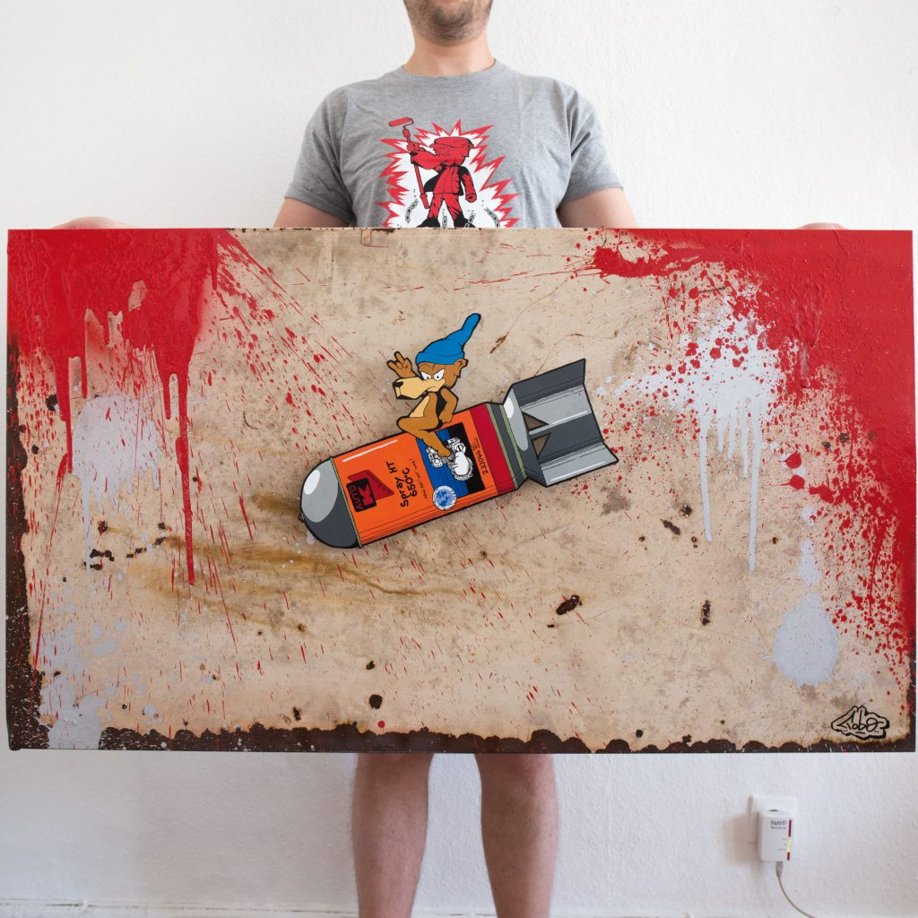 Tobo Erik Rotheim LEinwand Canvas for sale art buy kaufen berlin streetart hitzerot auok bomb living room orginal