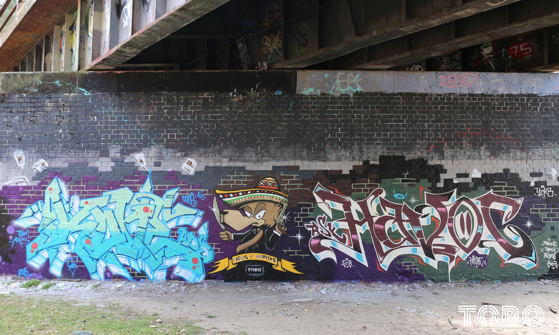 Tobo Erik Rotheim Graffiti Streetart berlin berliner bär bear havoc rsk ocb ycgb gto hall of fame kone ads train legend potsdam old school