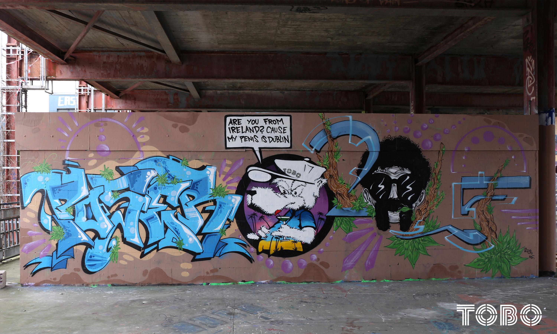 Tobo Erik Rotheim Graffiti streetart style bär bear ratte wolf schwein poser bar rolf es ist rolf ihr nutten Teufelsberg spy station tber the berg wisdom