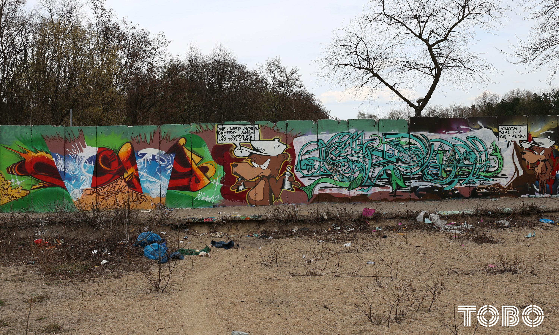 Tobo Erikrotheim Coky Sprueh graffiti berlin style writing Beusselstraße hall of fame Tegel