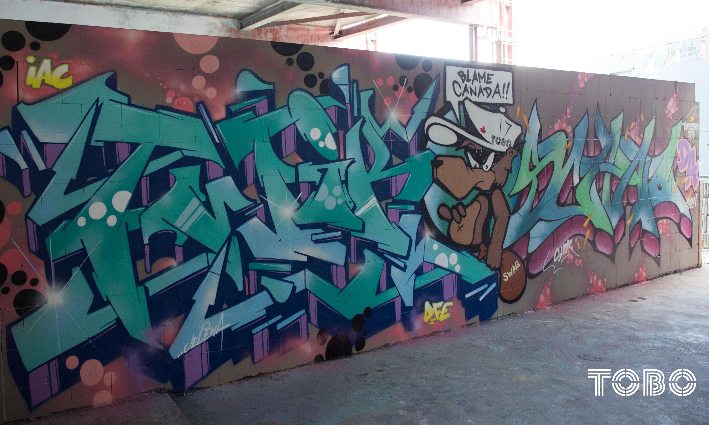 Tobo Erik rotheim graffiti streetart Teufelsberg twik ocb bandits iac scan rest in peace bro shok shoky canada legend berlin hill devils mountain spray paint
