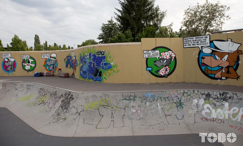 Tobo erik Rotheim Graffiti Streetart berlin luckenwalde skate park hall of fame bär bear cool stylisch bmx
