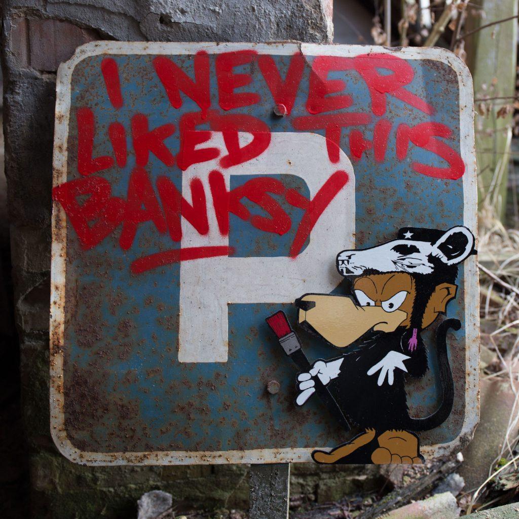 Tobo Erik Rotheim Graffiti streetart art banksy i am i never liked rat ratte cutout abandoned lostplace amazing sale buy art berlin west